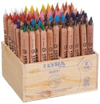Lyra Ferby Half-Size Colouring Pencils Natural Wood Finish - Box of 96 p... - €128,06 EUR