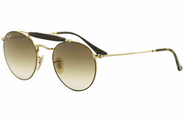 Ray Ban ROUND Sunglasses RB3747 9008/51 Gold Frame W/ Brown Gradient Lens  - $89.09
