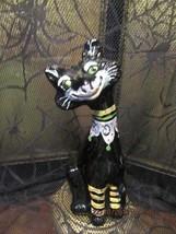 "FENTON ART GLASS 2011 HALLOWEEN BLACK HP ALLEY CAT ""CHESTER"" FIGURINE - $188.00"