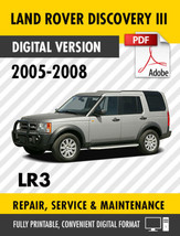 2005 - 2008 LAND ROVER DISCOVERY III LR3 FACTORY REPAIR SERVICE MANUAL W... - $9.90