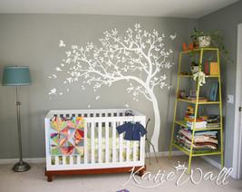 Nursery White Tree Wall Decal Tree wall sticker Wall Art Mural KW32 - $74.26
