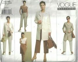 2795 sin Cortar Vogue Patrón de Costura Misses Chaqueta Forrada Top Fald... - $9.99