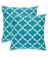 TreeWool Throw Pillowcase Trellis Accent Pure Cotton Decorative Cushion ... - $16.99