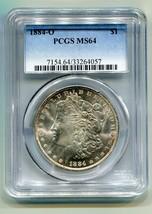 1884-O MORGAN SILVER DOLLAR PCGS MS64 NICE ORIGINAL COIN PREMIUM QUALITY PQ - $89.00