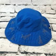 Sun Protection Zone Sz 50-54Cm Hat Blue Sharks Safari Bucket Explorer Su... - $14.84