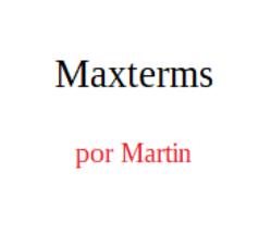App para maxterms - $19.00