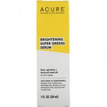 Acure, Brightening, Super Greens Serum, 1 fl oz (30 ml) - $28.77