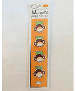 Re-marks Monkey Magnetic Page Clips Set of 4 Bookmarks Made in USA - $8.80