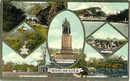 Manchester Multi View vintage Post Card - $6.00