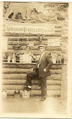 Arkansas Travelers Saloon Real Photo Post Card