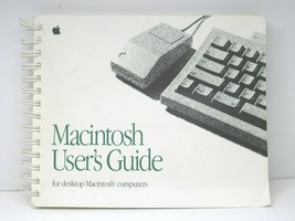 VINTAGE 1991 Macintosh Users Guide Desktop Mac Computer Classic Instruction Book - $19.77