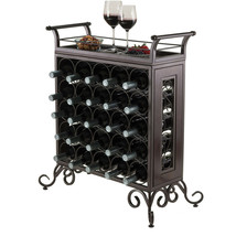 Wine Rack Wood Top Quality Silvano Model Removable Tray Genuine Antique ... - $125.68