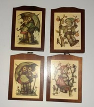 Vintage Manchester Wood Hummel Hanging Wall Plaques Set Of 4 nursery/chi... - $11.87