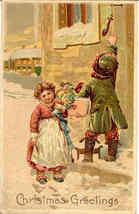 A Christmas Visit Paul Finkenrath of Berlin 1908 Post Card - $8.00
