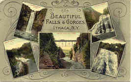 The Falls and Gorges Ithaca New York 1918 Vintage Post Card - $7.00