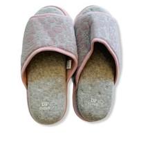 DEARFOAMS Woman's L 9-10 Gel Infused Memory Foam Cloud Step Open Toe Slippers - $13.81