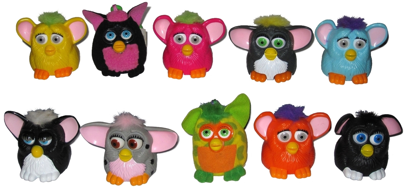 Group of 10 McDonald's Happy Meal Furbies 2