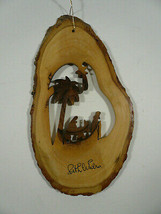 Hand Carved Olive Wood Christmas Tree Ornament from Bethlehem - $10.00
