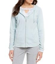 Calvin Klein Performance Ruched-Sleeve Zip Hoodie (Green Haze, Medium) - $44.43