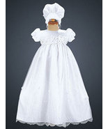 Baby Girl Satin Bodice with Embroidered Organza Skirt Christening & Bapt... - $65.00