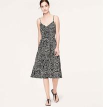 Nwt Ann Taylor Loft Vine Print MID-LENGTH Cami Stylish Casual Sun Dress XS/S/M/L - $59.99