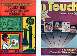 (2) ADVERTISING COMMUNICATION ECONOMICS + IN TOUCH BOOKS - $24.99
