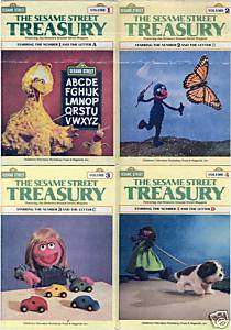 THE SESAME STREET TREASURY VOL.1, 2, 3, 4: LETTERS: A-D