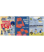 (3) KITE BOOKS-MAKING THINGS THAT FLY; 25 KITES;FLY! - $24.99