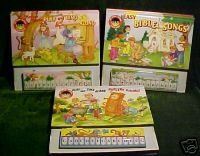 (3)MY PLAY-ALONG PIANO BOOKS:MOTHER GOOSE,NURSERY;BIBLE