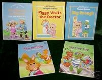 5 MUPPET BABIES,WORDS,BASIC CONCEPTS,1stBK CLUB,NEW HC2