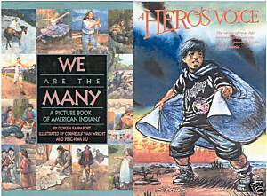 WE ARE THE MANY-16 AM.INDIAN BIOGRAPHIES+A Hero's VOICE