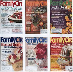 6) FAMILY CIRCLE 2002 CRAFTS;DECOR;MONEY;RECIPES;HEALTH