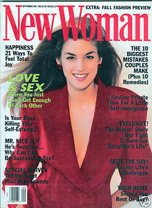 New Woman September 1991 Cindy Crawford Cover-LOVE&SEX!