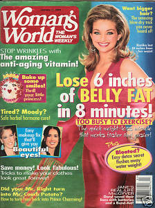 "WOMAN'S WORLD  JAN 27,2004-LOSE 6"" BELLY FAT IN 8 MINUTE"