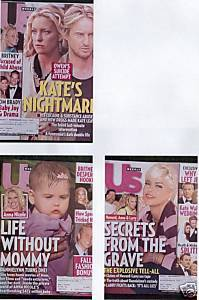 3)US WEEKLY-ANNA NICOLE SMITH Sept 3&17,2007-Kate Hudson/Owen Wilson;Sept10,2007