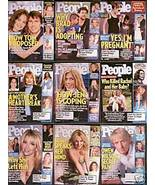 9 PEOPLE-2005-07 BRITNEY,BRAD,TOM,OWEN,JEN,JOLIE,HEATHE - $24.99