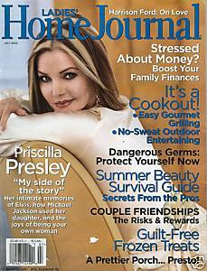 Ladies Home Journal July 2003 Priscilla Presley Article