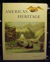 AMERICAN HERITAGE MAG-DEC 1965-CANADA;AUTOS;SAM HOUSTON