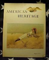 AMERICAN HERITAGE MAG-AUG 1971-SEA ART;'DIGS';W.POINT