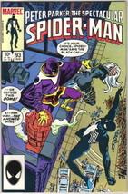 The Spectacular Spider-Man Comic Book #93 Marvel 1984 FINE+ UNREAD - $2.99