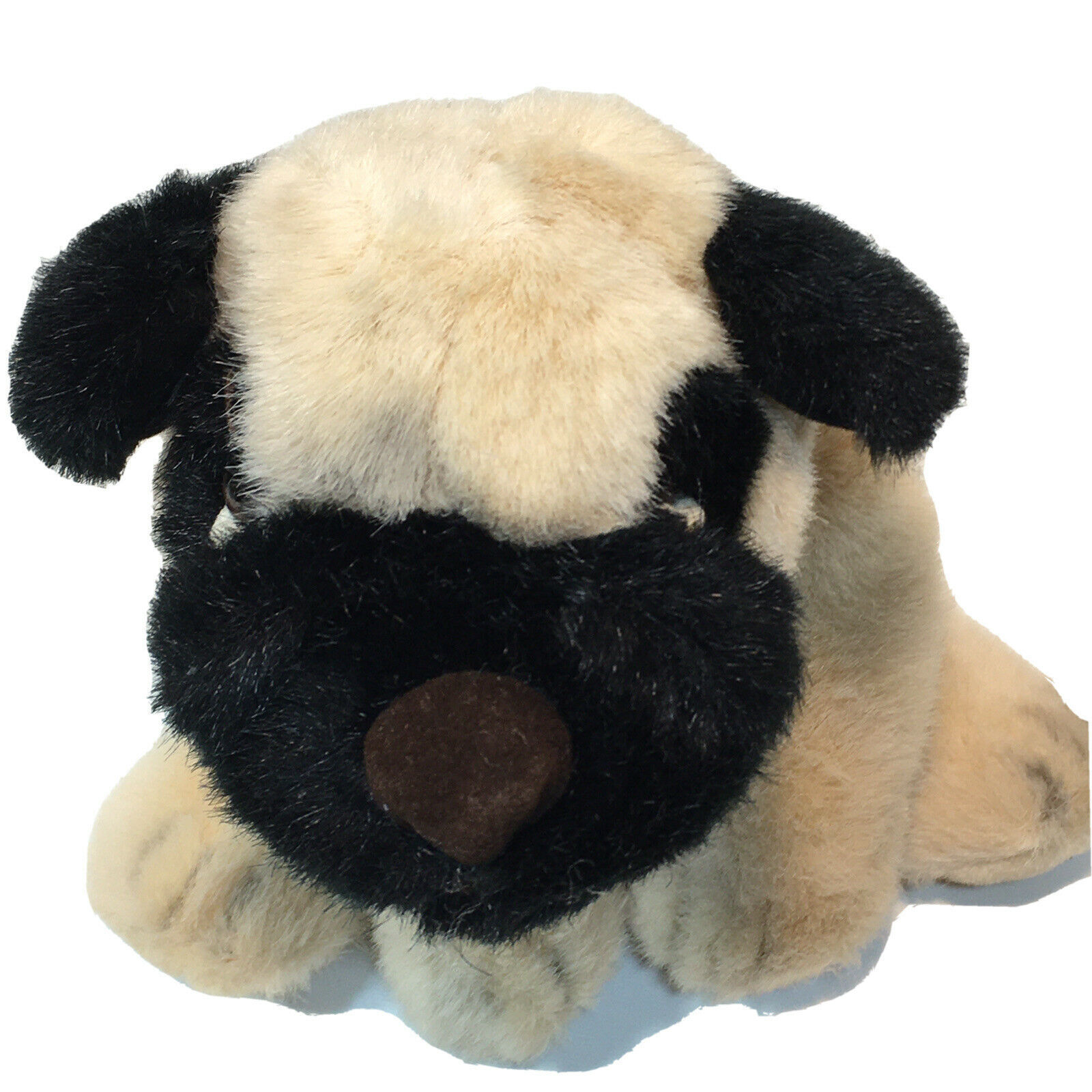 Primary image for Russ Berrie PONCHO Pug Dog Plush Bulldog Retired Beige Stuffed Animal 3485 - 10""