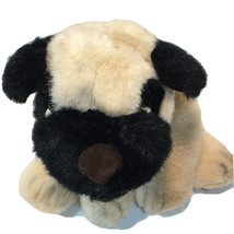 Russ Berrie PONCHO Pug Dog Plush Bulldog Retired Beige Stuffed Animal 34... - $59.99