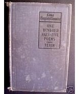 ONE HUNDRED NARRATIVE POEMS-GEORGE TETER 1918-Classics - $9.97