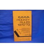 C.A.H.A. Hockey Rules 1972 - 73 Canadian Amateur Hockey Association Offi... - $5.99