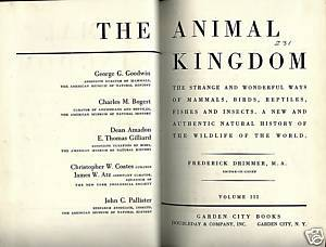 THE ANIMAL KINGDOM,VOL.3 BK IV:FISHES OF THE WORLD,1954