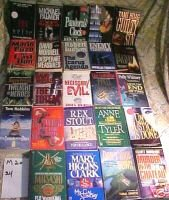 LOT OF24 MYSTERIES-Puzo,Stout,Morrell,Sandford,ClarkM20