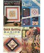 COUNTRY LIVING'S COUNTRY QUILTS + (3) QUILTING BOOKLETS - $17.14