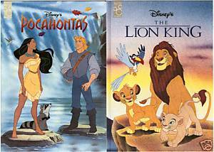 2) DISNEY'S-POCAHONTAS & THE LION KING-Large MOUSEWORKS