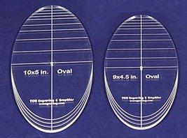 "Oval Quilt Templates 2 Piece Set. 9""-10"" - Multi Purpose 1/4"" - $30.99"