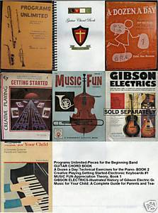 (6)KEYBOARD,PIANO,GUITAR,MUSIC THEORY;INSTRUMENTS;GUIDES